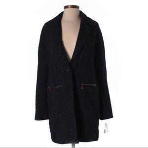 NWT Bar III longline women's menswear tweed coat